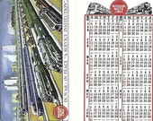 A Service Institution Missouri Pacific Lines Vintage Pocket Calendar, 1946