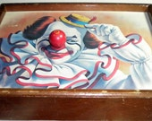 Wind Up Clown Nose Picture Frame Music Box