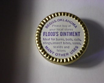 Flood's Ointment Vintage Advertising Tin, 1930's
