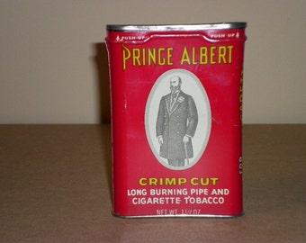 Prince Albert Crimp Cut Vintage Tobacco Tin, 1960s (empty)