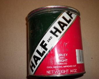 Half and Half Vintage Tobacco Tin (empty), 1950s