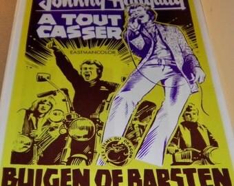 Johnny Hallyday  A Tout Casser Vintage European Film Poster, 1968