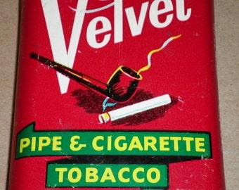 Velvet Vintage Tobacco Tin, 1950s (empty)