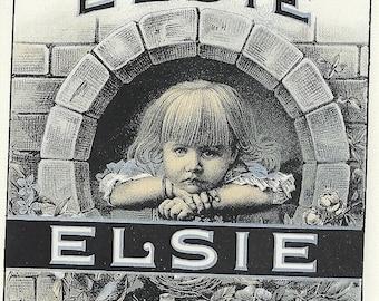 Elsie Vintage Outer Cigar Label, 1930's