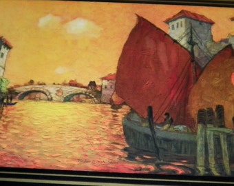 Under Tripoli Skies Vintage Large Art Print, La Tessa, 1930's