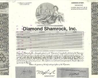 Diamond Shamrock Vintage Stock Certificate (olive), 1990's