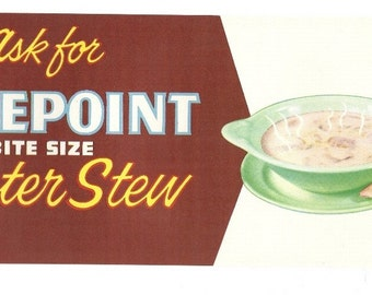 Tidepoint Oyster Store Sign, 1940's