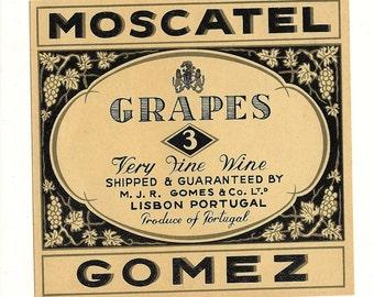 Grapes 3 Wine Label