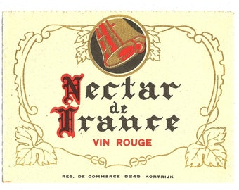 Nectar de France Vin Rouge Wine Label