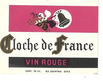 Cloche de France Vin Rouge Wine Label