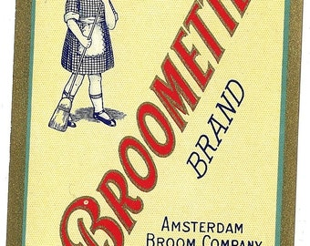 Broomette Brand Broom Label