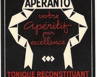 Aperanto Vermouth Vintage Label, 1950s