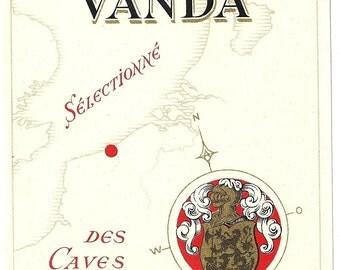 Vin Rouge Vanda Wine Label