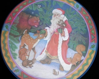 Santa and his Forest Friends Tin