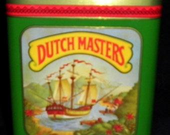 Dutch Masters 25 Presidents Vintage Cigar Tin, 1960s (empty)