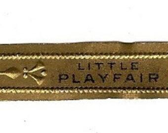 Little Playfair Vintage Cigar Band, 1920s