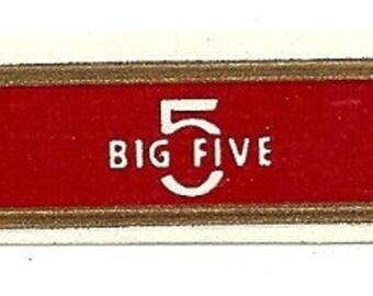 Big Five Vintage Cigar Band, 1920s