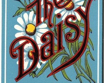 The Daisy Vintage Lithograph Broom Label, c1910s