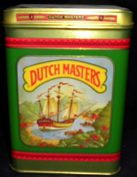 Dutch Masters 25 Presidents Vintage Cigar Tin, 1960s (empty)