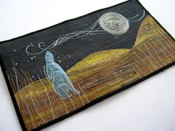 Moon Gazing Hare Mini Art Quilt Kit