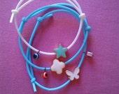 Set of 3 LOVELY rubber bracelet