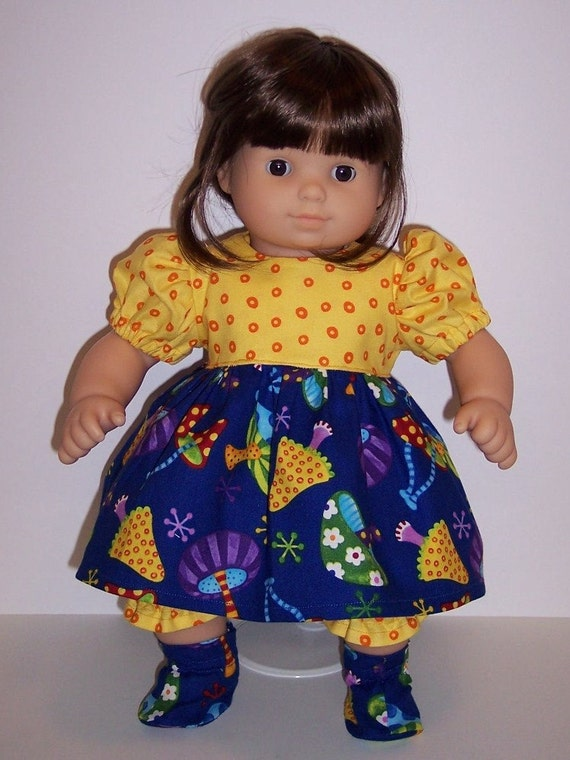"""Toadstools Dress Set for Bitty Baby/15"""" Dolls"""