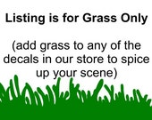 Reusable Grass add to any scene to spice it up (U Choose Color) (48 wide x 10 tall) XLARGE - KS