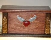 Wooden Decorative Jewelry Box w/ Hidden Compartment