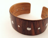 Rosewood Bracelet, Stainless Steel Accents, Eco Style