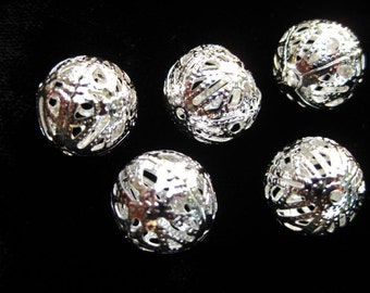 iron metal filigree beads bead COQUETTE torch fire torch firing