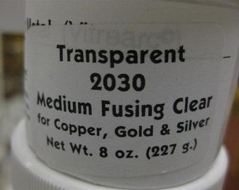 MEDIUM FUSING CLEAR 2030 Transparent Enamel 2 ounce jar