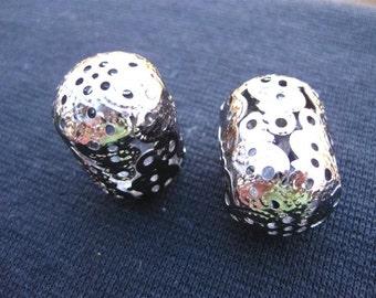 SALE Filigree Beads BARREL (3 Pcs) for torch firing SALE