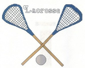 LaCrosse Sticks counted Cross Stitch Pattern Instant Digital Download