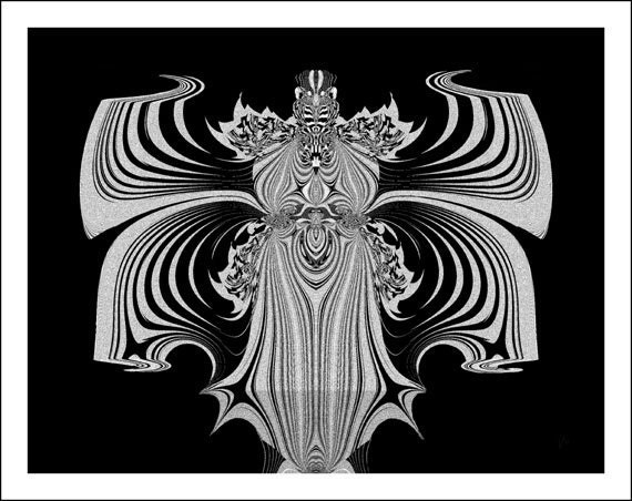 """Off-beat Fine Art abstract, black, white, pop music, """"Killer Queen - Two"""", rock 'n'roll, bold, Wall Decor, 11x14"""" Giclee print"""
