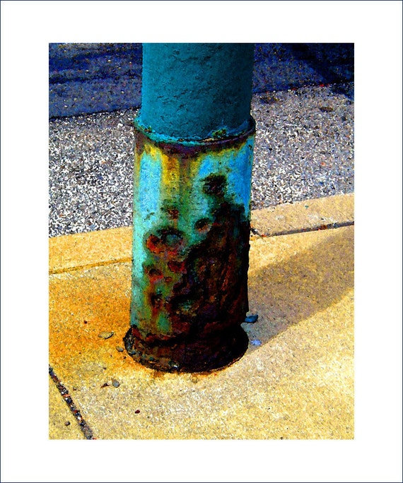 "Golds, turquoise, rust, ""Frankford Ave., Sidewalk Sale"", city streets, Philly, striking fine art photo, 11x14"" Giclee print"
