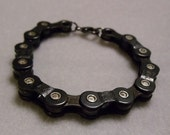 Women's Gunmetal Bike Chain Bracelet