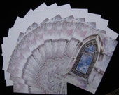 Oakland Cemetery Stained Glass Window 12 pc Blank Note Card Set with Envelopes
