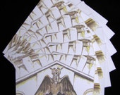 Oakland Cemetery Gargoyle 6pc Blank Note Card Set w/Envelopes