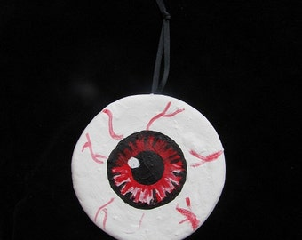Red Eyeball Halloween/Christmas Ornament