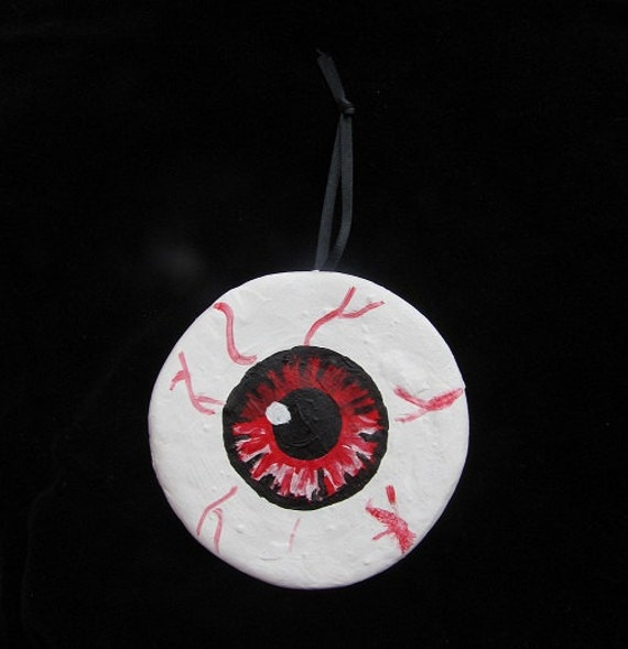 Red Eyeball Halloween/Christmas Ornament