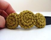 CARMEN - medium crochet rosette headband - pick your colours