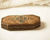 Victorian Edwardian Eyeglass Case Beaded and Velvet  Shabby and Chic