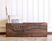 Vintage Kraft  Pimento Pasturized Cheese Wood Box