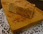 Pumpkin Pie Fudge, Pumpkin Spice Fudge, 1 pound fudge, Cream & Butter Fudge, Holiday Fudge, Pumpkin Fudge