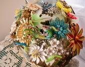 Wild Flowers Vintage Brooch Bridal Bouquet