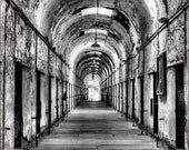 Eastern State Penitentiary Haunted Prison Halloween- The Light at the End - 12x18 Print