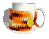 Vintage Yarn Crochet Mug Cozy- Orange Daze