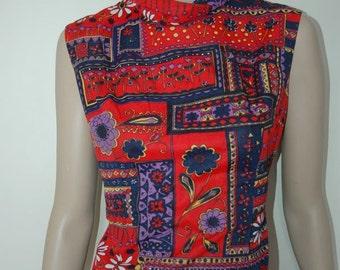 Vintage Pop Print Dress L