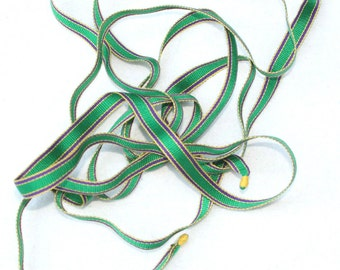 Ribbon, Handwoven Thread, Roman inspired color theme