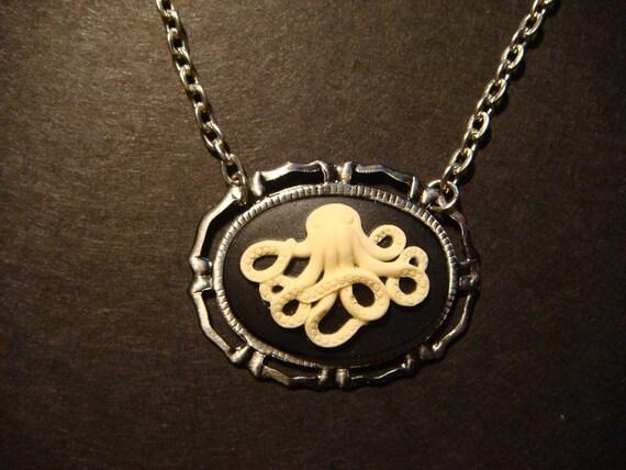 Steampunk Octopus Cameo Necklace